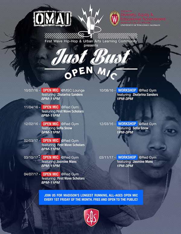 Just Bust Poster 2017 Front