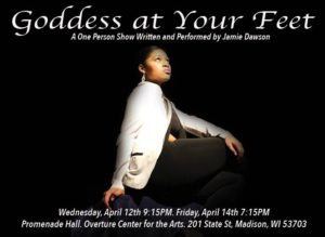 Goddess At Your Feet Poster